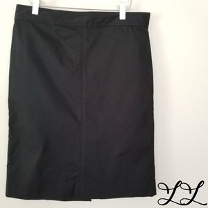 J. Crew Skirt Black Cotton Stretch Unlined Casual